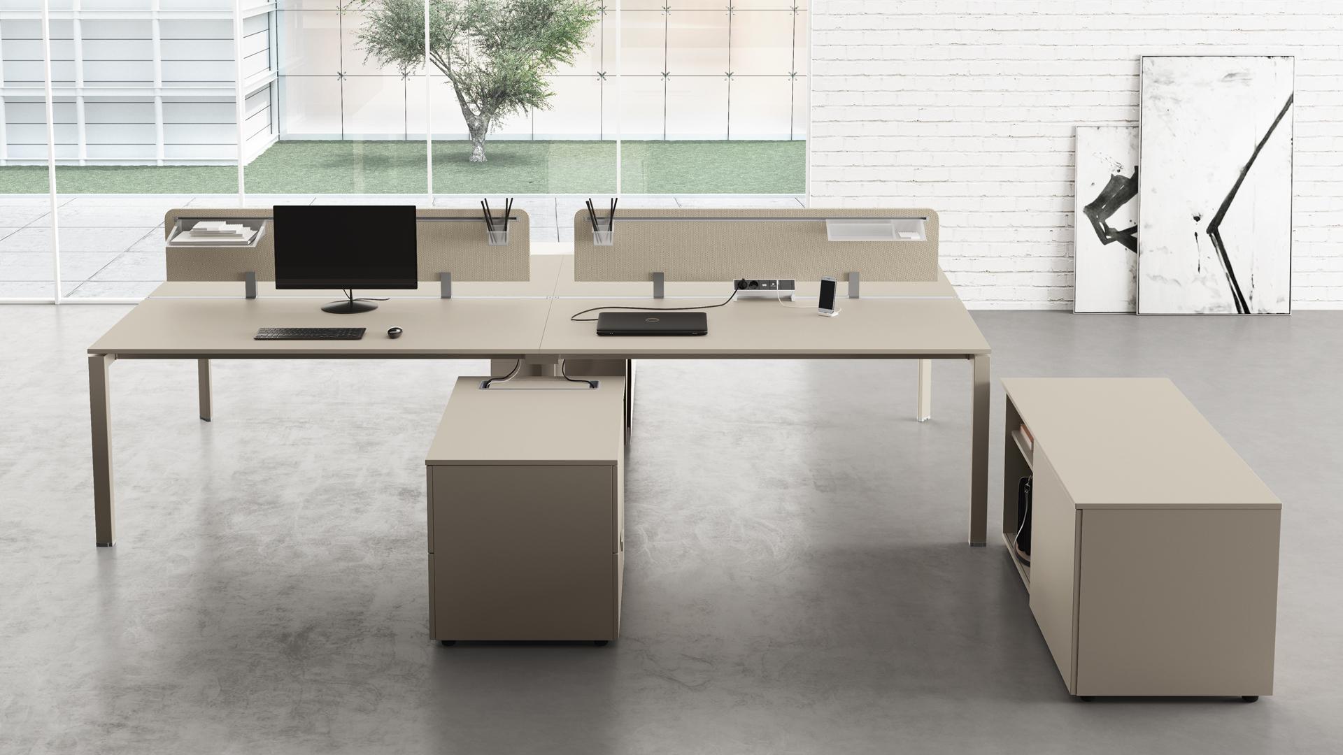 5th element scrivanie operative componibili con cassetti for Las mobili ufficio