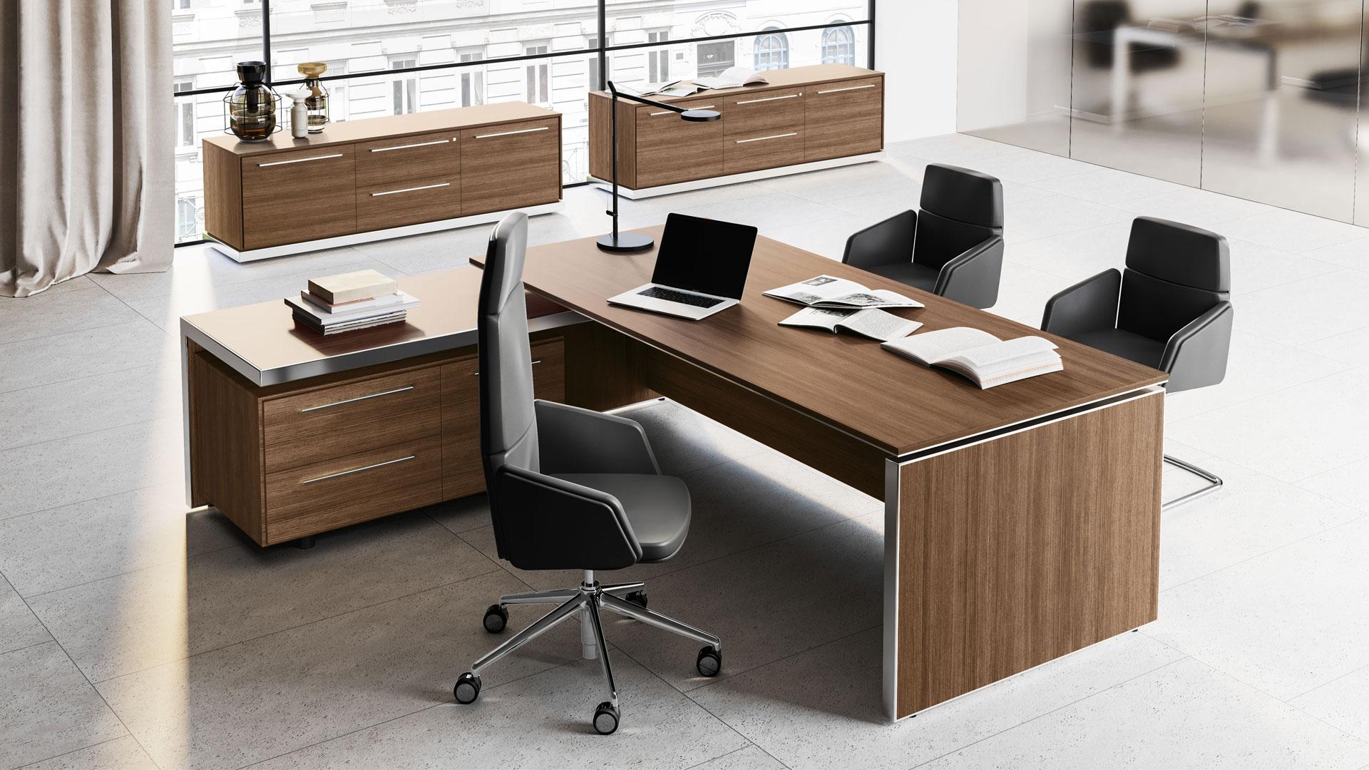 Scrivania doppia postazione in legno scrivania for Scrivania direzionale