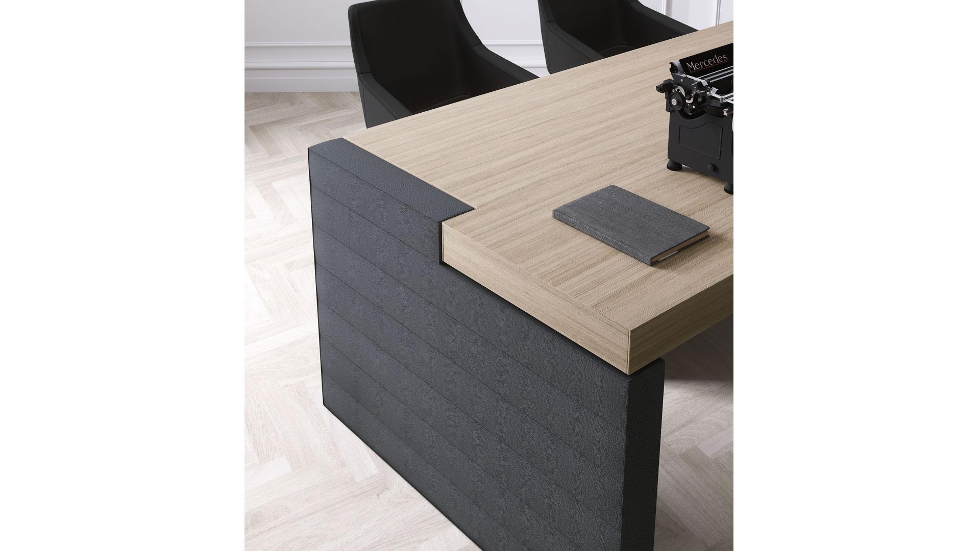 Jera las scrivania componibile in legno con cassettiera e scaffale