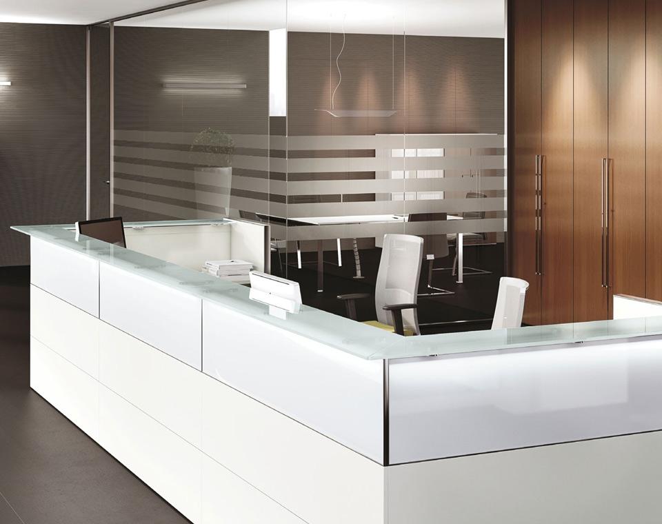 mobili reception ufficio banconi per reception arredo