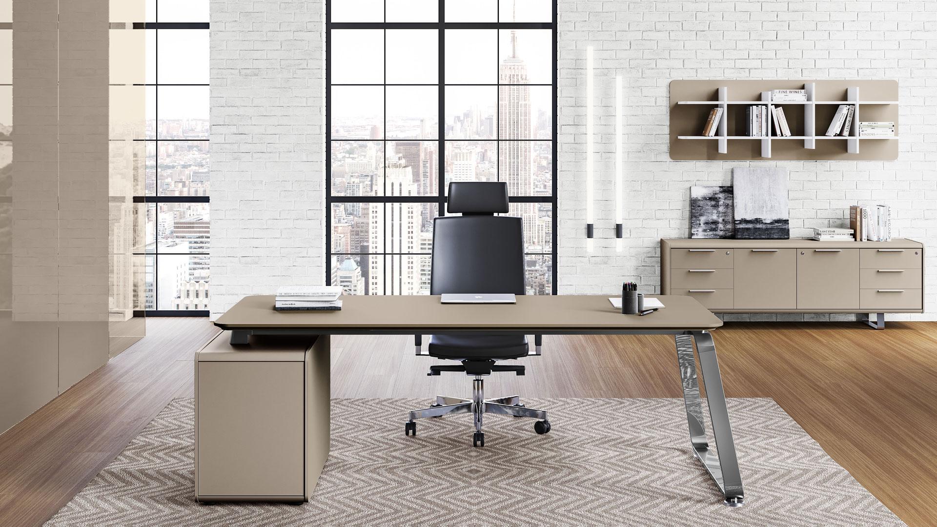 Scrivania direzionale ufficio scrivania las 70 s seventies for Scrivania direzionale