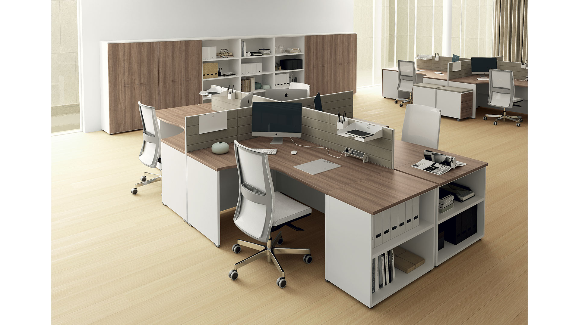 Scrivanie componibili las oxi arredo ufficio operativo for Mobili di ufficio
