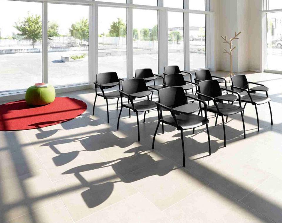 Sedie Ufficio Vaghi : Sedia con scrittoio sedia con tavoletta sedia a slitta vaghi