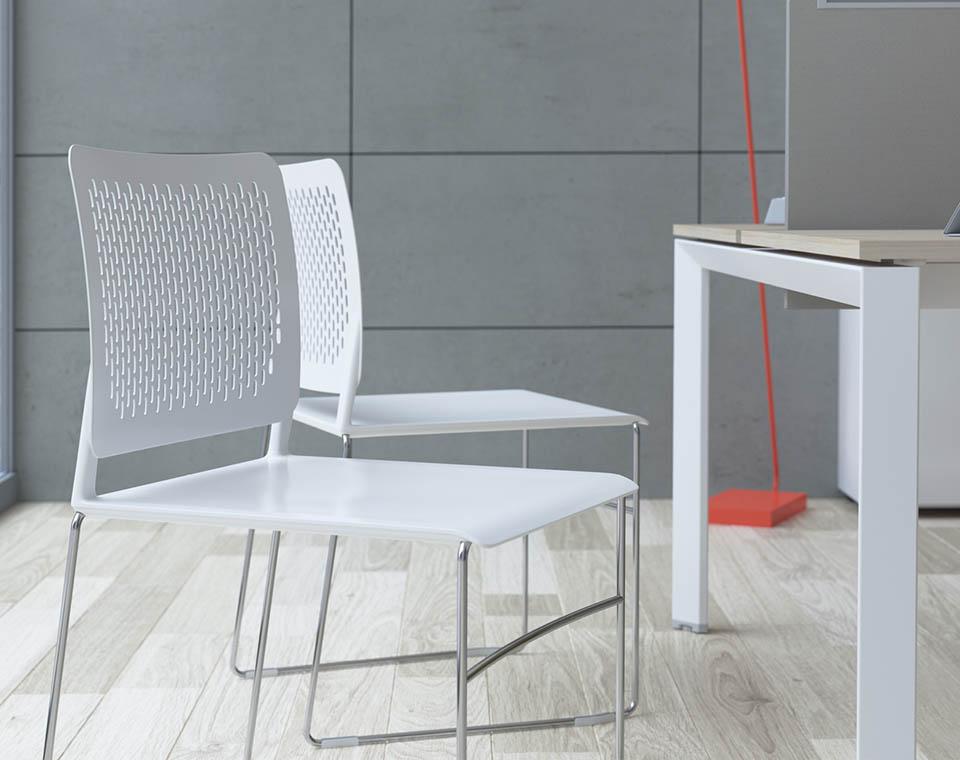 Sedie Ufficio Impilabili : Sedia impilabile d ufficio senza braccioli free sedia las